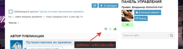Рейтинг лайк-дизлайк