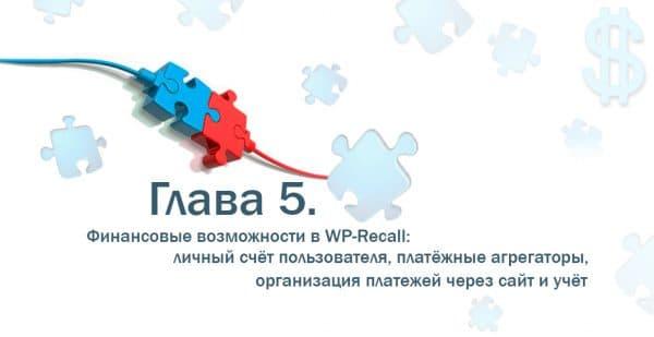 Глава 5. Финансовые возможности в WP-Recall: личный счёт пользователя, платёжные агрегаторы, организация платежей через сайт и учёт