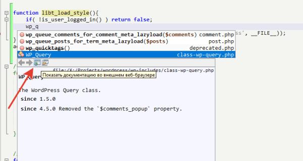 Описание функции в codex.wordpress.org